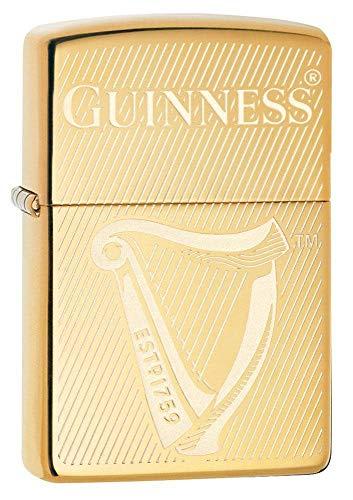 Zippo Guinness, Harp, Accendino Antivento Unisex-Adulto, Arpa, Taglia Unica