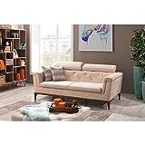 Casa Padrino Designer 3 Seater Sofa Paris Creme - Hotel Furniture