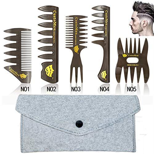 Professionel 5PCS Styling Kamm Für Männer Multifunktionaler Kämme Set Premium Einfügen Kunststoff Haarkamm
