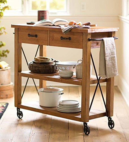 Rolling Wood Kitchen Cart