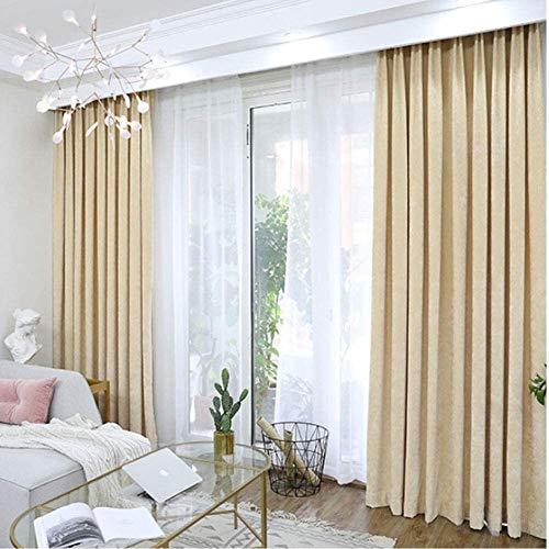 BAIRU Blackout Curtains Pencil Pleat Thermal Curtains Darken The Bedroom| Super Soft Flannel Living Room Curtain Heat Insulation Window Treatment,2 Panels livingroom Curtains