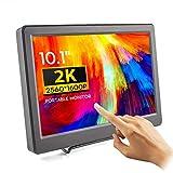 Touchscreen Monitor - ELECROW 10,1 Zoll 2K USB Portable Monitor IPS Bildschirm Tragbar 2560×1600 Full-HD Tragbarer Display mit USB-C/Typ-C HDMI für Raspberry Pi 4B 3B+, PC, Xbox, usw
