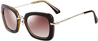 Retro Polarized Women's Sunglasses Oversized Frame UV400 Protection PZ-9535