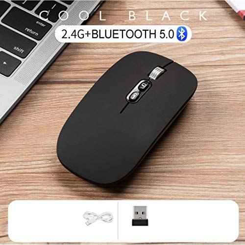 Thboxes Computer Mouse Bluetooth Wireless PC Mice Rechargeable Adjustable Ultra-Thin Mouse