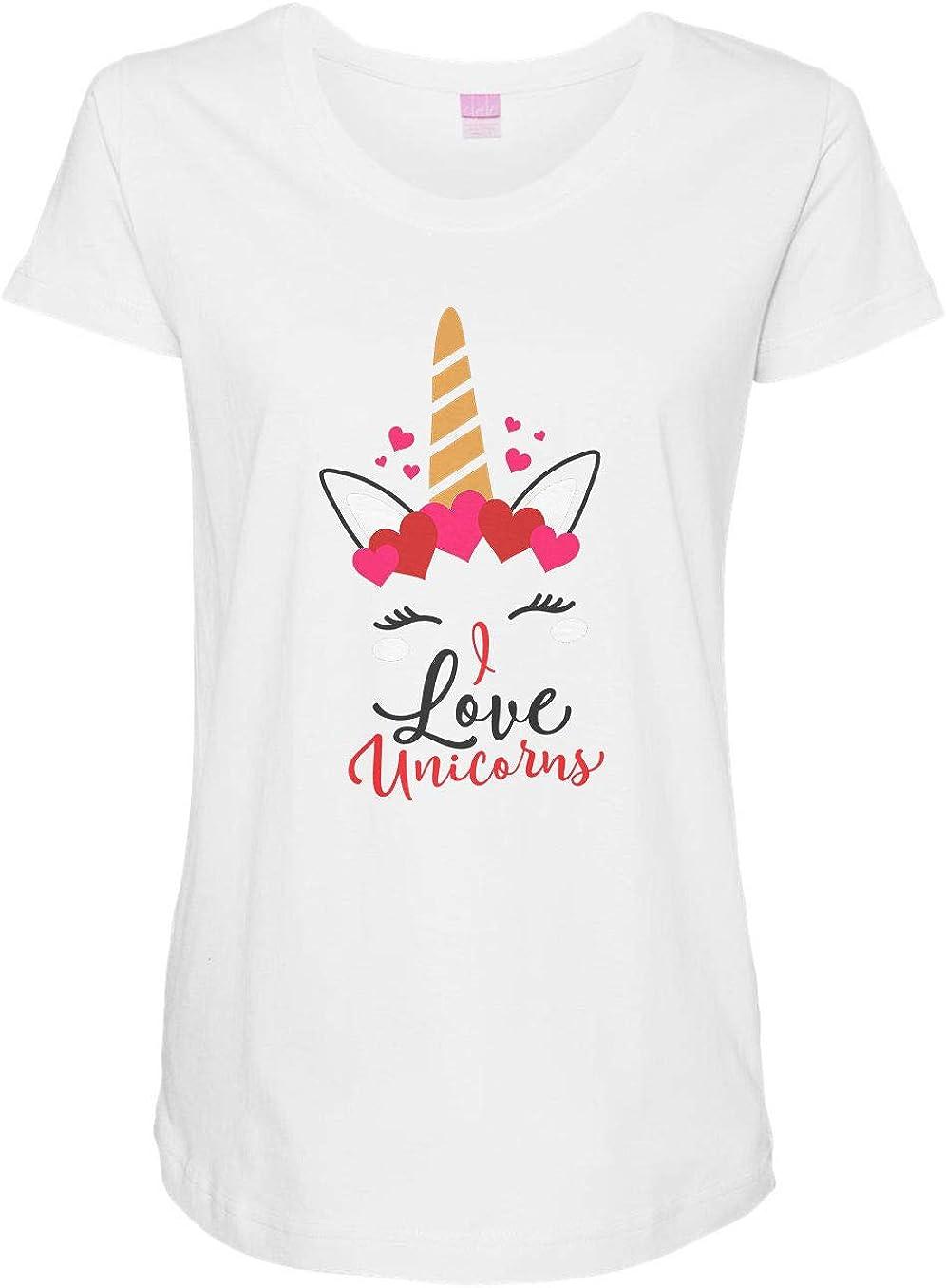 HARD EDGE DESIGN Women's I Love Unicorns T-Shirt