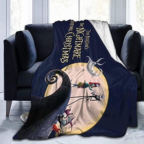 ZHENJING The Night-mare Manta antes de Chri-st-mas Manta ultra suave de microfibra, manta de aire acondicionado, para ropa de cama, sofá de viaje