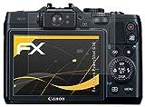 atFoliX Película Protectora Compatible con Canon PowerShot G16 Lámina Protectora de Pantalla, antirreflejos y amortiguadores FX Protector Película (3X)