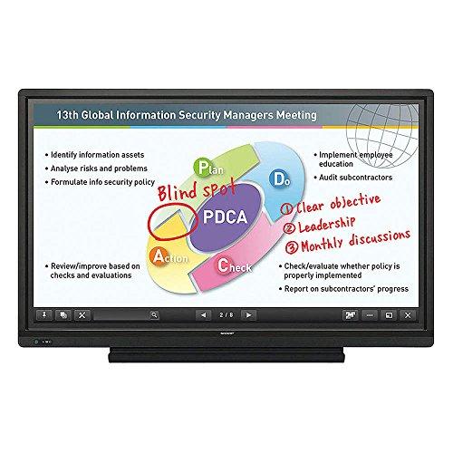 "Sharp PN-L603B Aquos Board 60"" Edge Lit LED Backlight Interactive Display System"