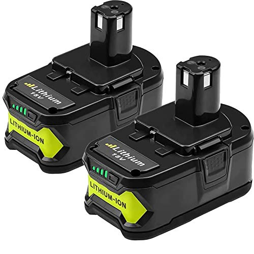 2 Packs 6.0Ah High Capacity P108 Replacement Battery Compatible with 18V Lithium Ion Battery P102 P103 P104 P105 P107 P108 for 18-Volt Power Tool