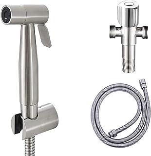 U-HOOME Bidet Sprayer for Toilet, Handheld Cloth Diaper Sprayer, Bathroom Sprayer Kit Spray Attachment with Hose, Stainles...
