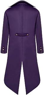 Pingtr Men's Tuxedo Suit Jackets, Mens Steampunk Vintage Tailcoat Jacket Gothic Victorian Coat Halloween Uniform Costume C...