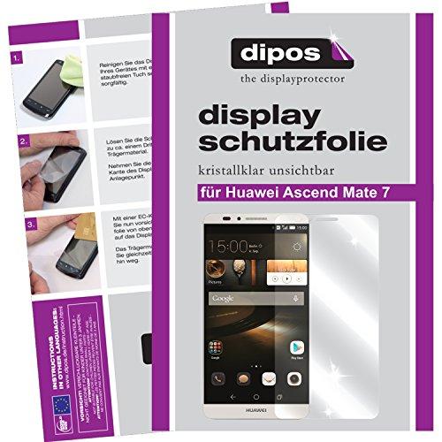 dipos I 6X Schutzfolie klar kompatibel mit Huawei Ascend Mate 7 Folie Displayschutzfolie - 2