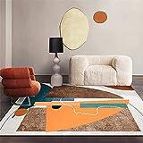alfombras persas Alfombra Amarilla de la Alfombra de té Almohadilla de Asiento de Oficina antibacteriana en la Alfombra Transpirable alfombras para pasillos Largos -Amarillo_80x160cm