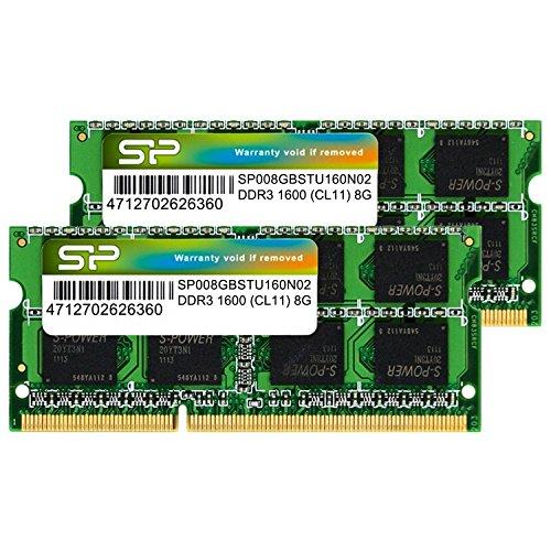 シリコンパワー ノートPC用メモリ DDR3 1600 PC3-12800 SO-DIMM Mac対応 8GB×2枚 永久...