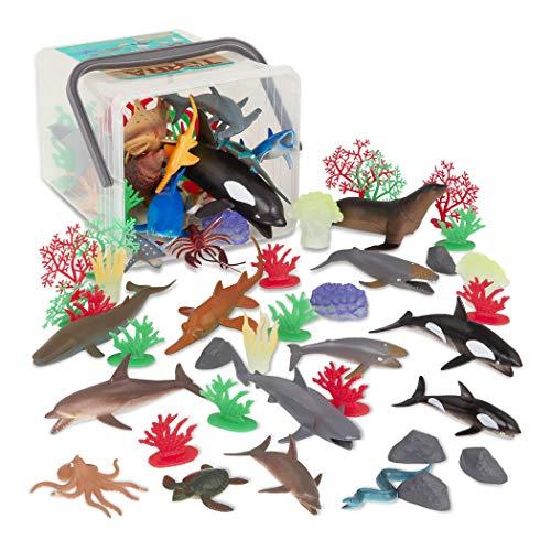 Terra by Battat – Marine World – Assorted Fish & Sea Creature Miniature Animal Toys for Kids 3+ (60 Pc)