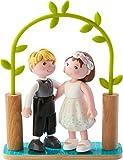 HABA 303165 - Little Friends – Brautpaar | Hübsche Minipuppen ab 3 Jahren | Strapazierfähige...
