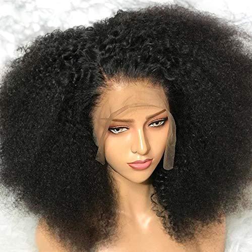 Kinky Bouclés Perruque Naturelle Avant de Lacet Mongole Afro Perruques de Cheveux Humains Pour Les Femmes Noires...
