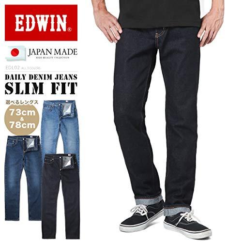 EDWINエドウィンEDL02デイリーデニムジーンズスリムフィット日本製(S-M93INDIGO)