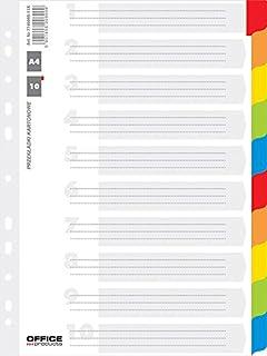 Leitz 12360000 Intercalaire imprimable en PP A4 maxi Rouge clair