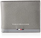 Tommy Hilfiger - Business Leather Mini Cc Wallet, Carteras Hombre, Gris (Concrete Grey), 1x1x1 cm (W x H L)