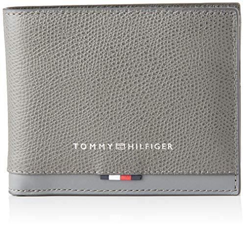 Tommy Hilfiger - Business Leather Mini Cc Wallet, Carteras Hombre, Gris (Concrete Grey), 1x1x1 cm (W x H L)