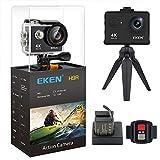 EKEN H9R Action Camera 4K WiFi Full HD 4K 30fps 2.7K 30fps 1080P 60fps 720P 120fps Waterproof SportsCamera 20MP Photo and 170 Wide Angle Lens Includes 11 Mountings Kit 2 Batteries Black
