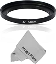 Goja 37-58MM Step-Up Adapter Ring (37MM Lens to 58MM Accessory) + Premium MagicFiber Microfiber Cleaning Cloth