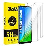 ivencase [3-Pack Huawei P Smart 2020 Protector Pantalla, Cristal Templado [9H Dureza] [Alta...