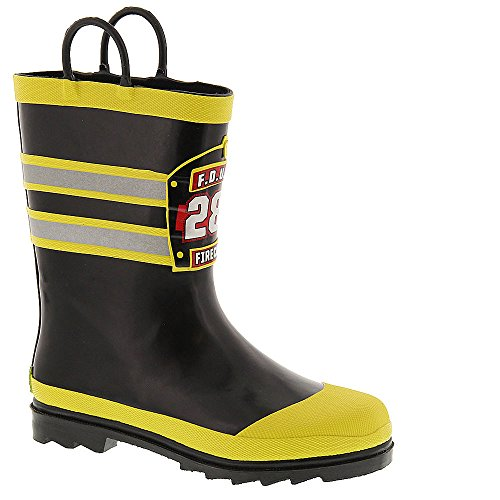 Western Chief Boys Waterproof Printed Rain Boot with Easy Pull On Handles, F.D.U.S.A, 13 M US Little Kid