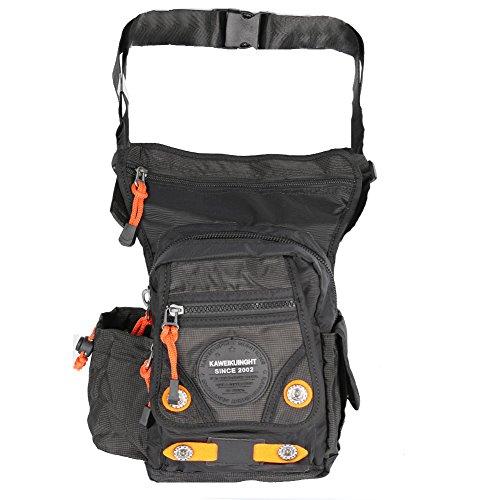 Bolsa de pierna de nylon táctico, bolsa para el hombro, bolsa de mensajero de Innturt, color negro, tamaño 6.7