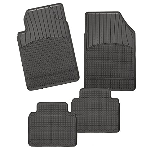 Allwetter Auto Schalenmatte A1 | TPE Gummi Fußmatten in schwarz | Auto Fußmatten Set ohne Mattenhalter in Automatte
