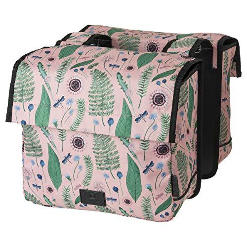 FastRider Nyla Kids Doppelte Fahrradtasche für Gepäckträger, 15L Kinder Seitentasche Fahrrad, Gepäckträgertasche für Kinder, Wasserabweisend, Reflektierend, 100% Recyceltes Polyester - Rosa
