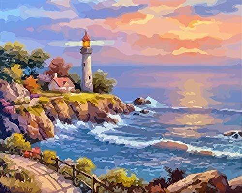 Jigsaw Puzzle for Adults 1000 pcs Coast lighthouse landscape 50x75cm Brain Challenge Puzzles Challenge 1000 pcs Jigsaw Puzzle for Adults & for Kids Age 12 and Up