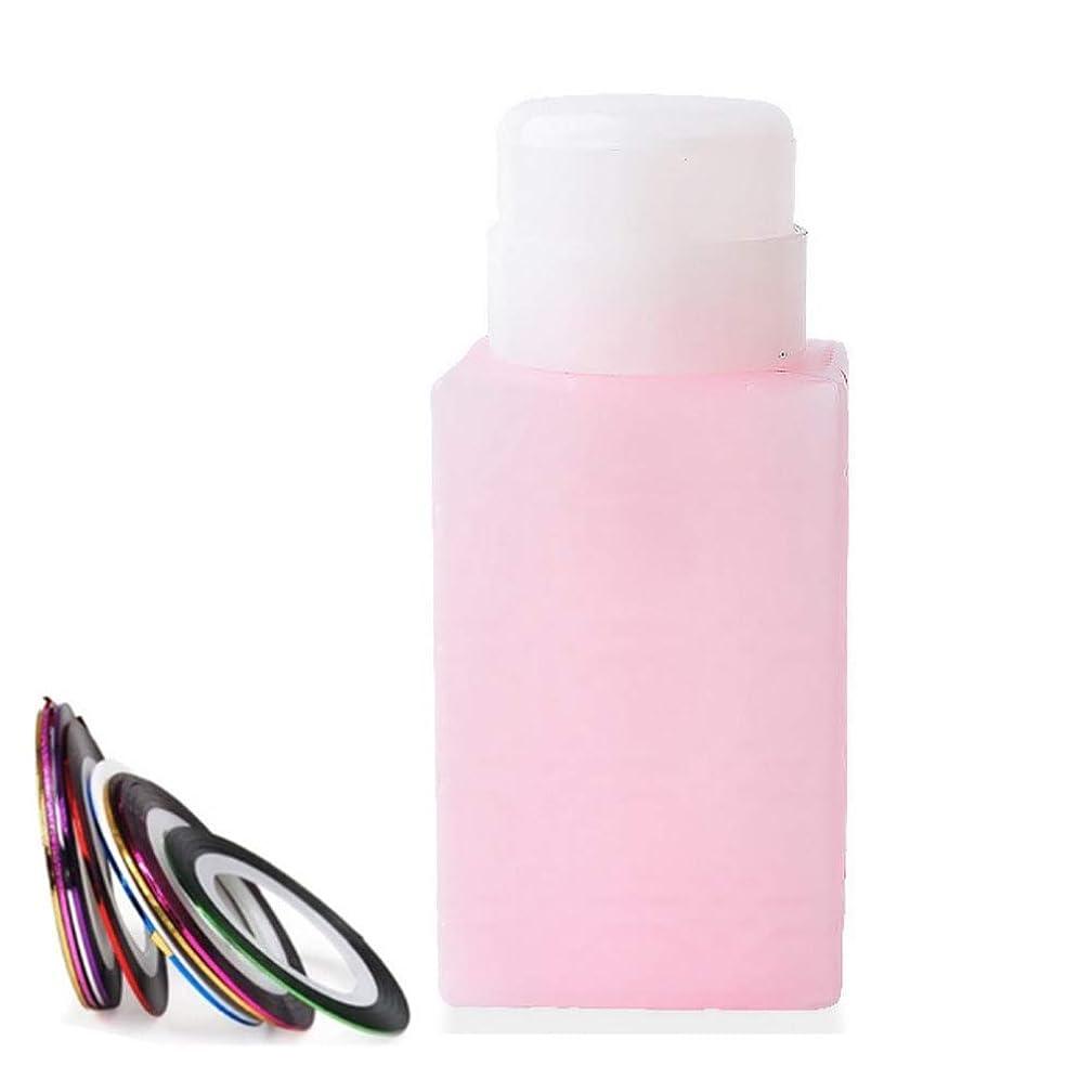 メダルでる便益空ポンプボトル ポンプディスペンサー ネイルワイプ瓶 ジュルクリーナー ジュルリムーバー 可愛い (ピンク)