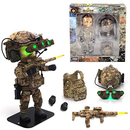 Seal Team 6 Division | Tricky Man Pointman | Militär Figur Paintball Softair Military | Spezialeinheiten Army Spielfigur | 12 cm groß Special Forces Seal Team 6