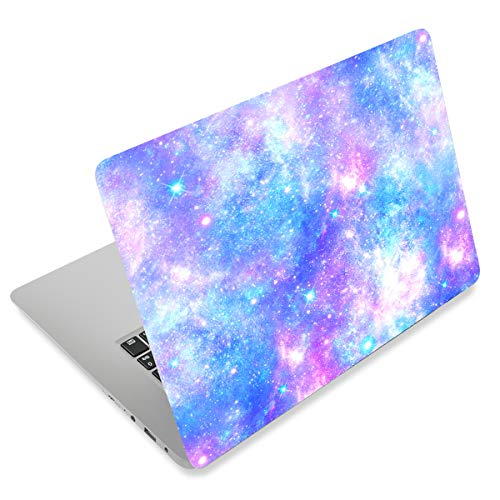 "Laptop Skin Sticker Decal,12"" 13"" 13.3"" 14"" 15"" 15.4"" 15.6 inch Laptop Vinyl Skin Sticker Cover Art Protector Notebook PC (Free 2 Wrist Pad), Decorative Waterproof Removable,Romantic Starry Night Sky"