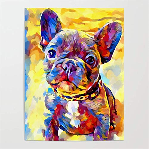 Dfvfgv Jigsaw Puzzle 1000 Piece French Bulldog Animal/Puzzle 1000 Pieces for Adults Educational Game Toys Adult Puzzles 50x75cm