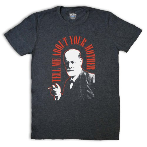 Sigmund Freud Tell Me About Your Mother Herren T-Shirt, Jahrgang Schiefer, Large