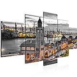 Runa Art - Bilder Hamburg 200 x 100 cm 5 Teilig XXL