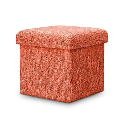 YLCJ Fußhocker Ottomane Gepolsterte Klappbare Aufbewahrungstruhe Mode Pouffes Sofa Sitzbank Platzsparend Max. Zuladung 150 kg (Größe: 38 * 38 * 38 cm)