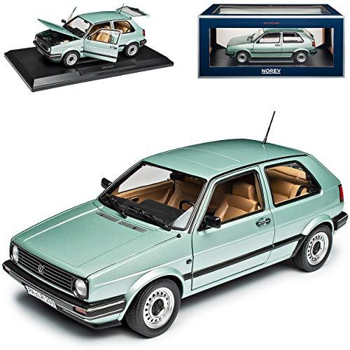 Volkwagen Golf II CL Hell Grün Metallic 1983-1992 1/18 Norev Modell Auto