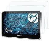Bruni Schutzfolie kompatibel mit HannSpree HannsPad 10.1 SN10T1 Folie, glasklare Bildschirmschutzfolie (2X)