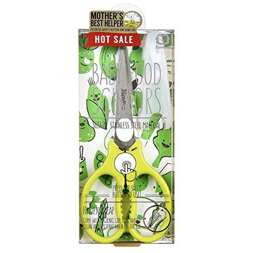 Simba Premium Portable Safety Food Scissors (Green)