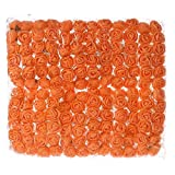 Mini Foam Rose 144pcs 2cm Artificial Flowers Bouquet in Bulk Wholesale for Crafts Multicolor Roses Party Birthday Home Decor Wedding Flower Decoration Scrapbooking Fake Rose Flower (Orange)