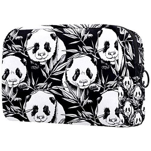 Painting Panda Kosmetiktasche für Frauen, entzückend, geräumige Make-up-Tasche, Reise, wasserdicht, Kulturbeutel, Zubehör, Organizer, Faultier-Geschenke