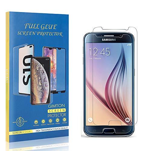 GIMTON Displayschutzfolie für Galaxy S6, 9H Härte Kratzfest Panzerglasfolie, Ultra Transparente Schutzfilm aus Gehärtetem Glas für Samsung Galaxy S6, 2 Stück