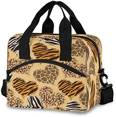 SUABO Lunch Tote Bag for Boys Girls Leopard Giraffe Zebra Lunch Bag for Women Lunch Box Insulated product image