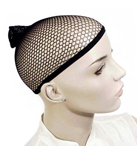 Oyfel Perruque Cap Cheveux Snood Stretch Mesh sous Bonnet Femme Unisexe élastique Doublure Noir