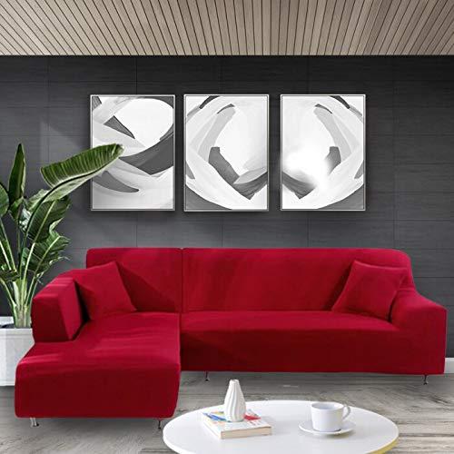 Funda de sofá elástica Estiramiento Tight Wrap Fundas de sofá Todo Incluido para Sala de Estar Funda de sofá Silla Funda de sofá A23 3 plazas