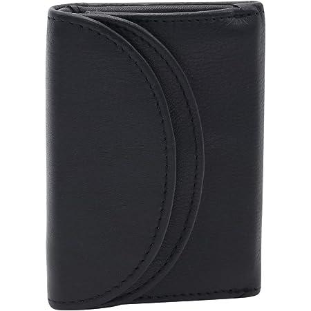 LEAS Minibörse RFID- Schutz in Echt-Leder, schwarz Mini-Edition